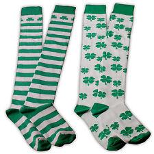 femmes au dessus du genou jour de la St Patrick chausettes tailles UK 4-6