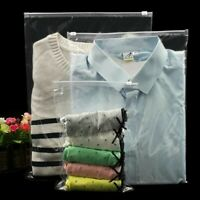 30x Garment Clothing Packing Bag Frosted Zip Bag Underwear Sock PE Home Portable