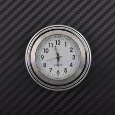 "7/8""&1"" Motorcycle Chrome Waterproof White Dial Handlebar Clock Glow TIme Watch"