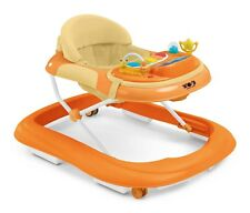 Baby Entertainment Comfy Walker Musical Play to Walk Baby Padded Walker Orange