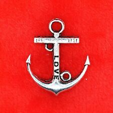 4 x Tibetan Silver Love Anchor Sailor Charm Pendant Finding Bead Making