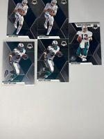 Miami Dolphins 2020 NFL Panini Mosaic Football Team Lot 5 cards                K