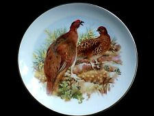 FENTON CHINA STAFFORDSHIRE Ptamigan Birds 9 1/4 in Display Cabinet Plate