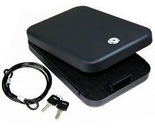 Safety Storage Full Size Handgun Safe Vault Security Pistol Case Key Lock Box