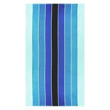 "Pacific Blue Striped Over-Sized Beach Towels 100% Cotton 450 GSM 34"" x 64"""