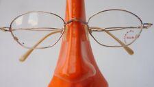 Leichte Brille Edelstahl Gestell kleine Form Damen dezent lunettes gold size M