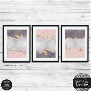Grey Pink Abstract Watercolour, modern wall art, abstract art, modern art print