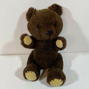 Vintage 1981 Dakin Dark Brown Jointed Teddy Bear Plush Stuffed Animal
