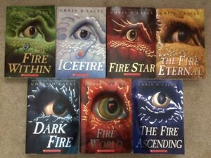 The Last Dragon Chronicles Complete Set 1-7 D'Lacey Ice Fire 1 2 3 4 5 6 7 lot