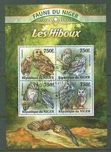 MTC1681 Niger 2013 used s/s Fauna Birds Owl