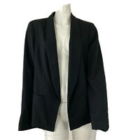 Katherine Barclay Montreal Womens Black Open Front Blazer Size Medium