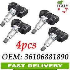 4x Per BMW Series1 2 3 4 5 X1 X2 X5 X6 Sensore di pressione dei pneumatici TPMS