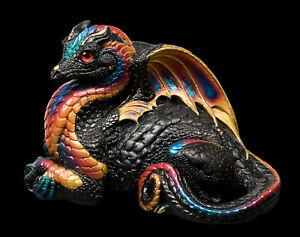 "Windstone Editions ""Black Monarch"" Female Hearth Dragon Test Paint #1"