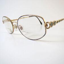 LUXOTTICA Eyeglass Frames Italy LU2242 ~ G 676 Gold Womens 53-18 135mm