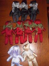 JESSICA McCLINTOCK lot of 9 Keepsake BEAR,CAT,RABBIT Spring/Fall 2000-beenie