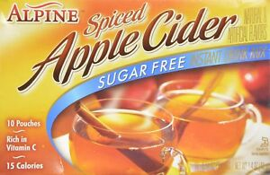 Alpine Apple Mix Spiced Cider Sugar-Free 10 Packets / Pouches Powder (Pack of 2)