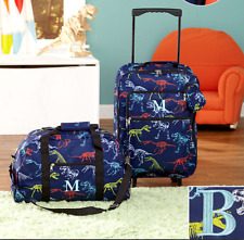 Luggage for Kids Boys Set Small Rolling Suitcase Duffel Bag Dinosaur Letter B
