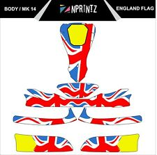 MK 14 ENGLAND FULL KART STICKER KIT - KARTING - OTK - EVK-CADET-ROOKIE