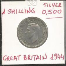 M44) GREAT BRITAIN 1944 ONE SHILLING - SILVER 0,500 - UNC