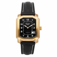Glashutte Senator Karree Auto Rose Gold Mens Strap Watch Date 39-46-27-15-04