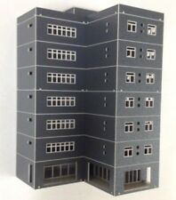 HO scale Painted building ( L Building ) 1:100 for Model Train Railway layout H