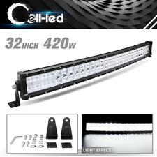 32 inch Curved LED Light Bar for POLARIS RZR UTV ATV SUV Off-Road LED Lights 32""