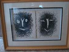 """pablo picasso,dust jacket,front and back cover """"lithograph IV"""" book.1964,framed"""
