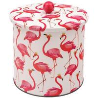 Sara Miller Flamingo Biscuit Barrel NEW
