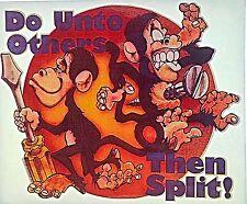 Vintage 70s Do Unto Others Then Split! Monkeys Iron On Transfer Funny LAST ONE!