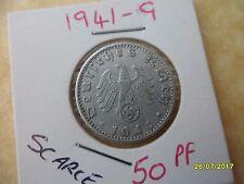 German 50 Reichspfennig 1941-G Third Reich Aluminium Coin WW2 pf