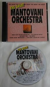 THE GREAT MANTOVANI ORCHESTRA cd 18 tr 1994 UK GREAT031 Chanson Ballad Classical