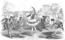 LONDON. The Spanigh Dancers, at the Haymarket Theatre, antique print, 1854