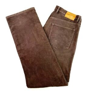 Rodd & Gunn Men's W38 L34 Brown Straight Zip Fly Heavy Moleskin Pants Trousers