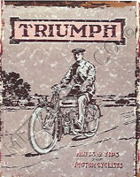 TRIUMPH MOTOR CYCLES METAL SIGN 8x10in pub bar shop cafe garage man cave bike