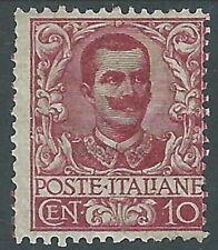 1901 REGNO FLOREALE 10 CENT MH * - Y141-2