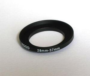 STEP UP ADAPTER 28MM-37MM STEPPING RING 28MM TO 37MM 28-37 FILTER ADAPTOR