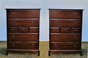 Beautiful Pair Of Stag Minstrel Chests Of Drawers