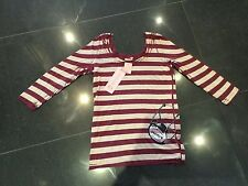 NWT Juicy Couture New & Gen. Ladies Size Large Striped Cotton T-Shirt UK 12/14