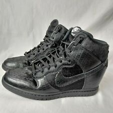 Nike Women Size 10 Dunk Sky Hi Wedge Shoes Undercover Sneaker Black 717122-001