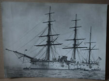 More details for original photograph royal navy 1860's 1880's ironclad sail & steam warship