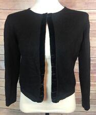 EDDIE BAUER Cardigan Women's XS Black One Button Sweater 100% Merino Wool