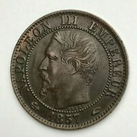 Dated : 1857 A - France - Cinq Centimes - 5 Centimes Coin - Napoleon III