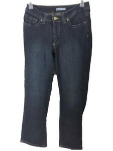 Lee jeans size 14 short jeans lower on waist slender secret blue denim 4 pockets