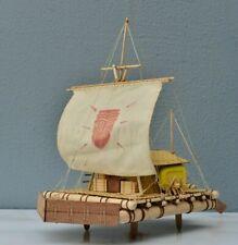 "HOBBY Kon-Tiki Raft Scale 1/18 15.8"" 402mm Wood Model Ship Kit Model ship"