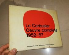 LE CORBUSIER OEUVRE COMPLETE 1952 - 57 EDITIONS GIRSBERGER ZURICH ARCHITETTURA