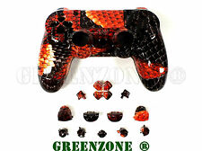 Red Dragon PS4 Replacement Hydro Dipped Custom Controller Full Shell Mod Kit