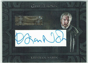 Game of Thrones Inflexions Archive Cut Relic Autograph Card Kristian Nairn Hodor