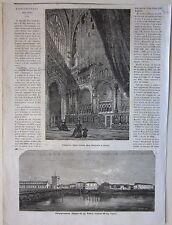 1866 PIZZIGHETTONE - SAN GIACOMO LIEGI xilografia Illustrazione Universale