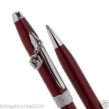 Cross Sentiment  Scarlet Red & Glittering Pavé-textured Band ballpoint pen New