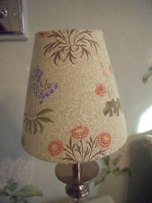 Handmade Candle Clip Lampshade X 2  William Morris Lily fabric